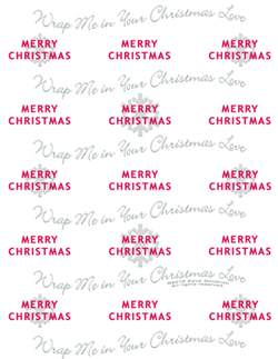 Merry Snowflake Wrapping Paper 8.5x11